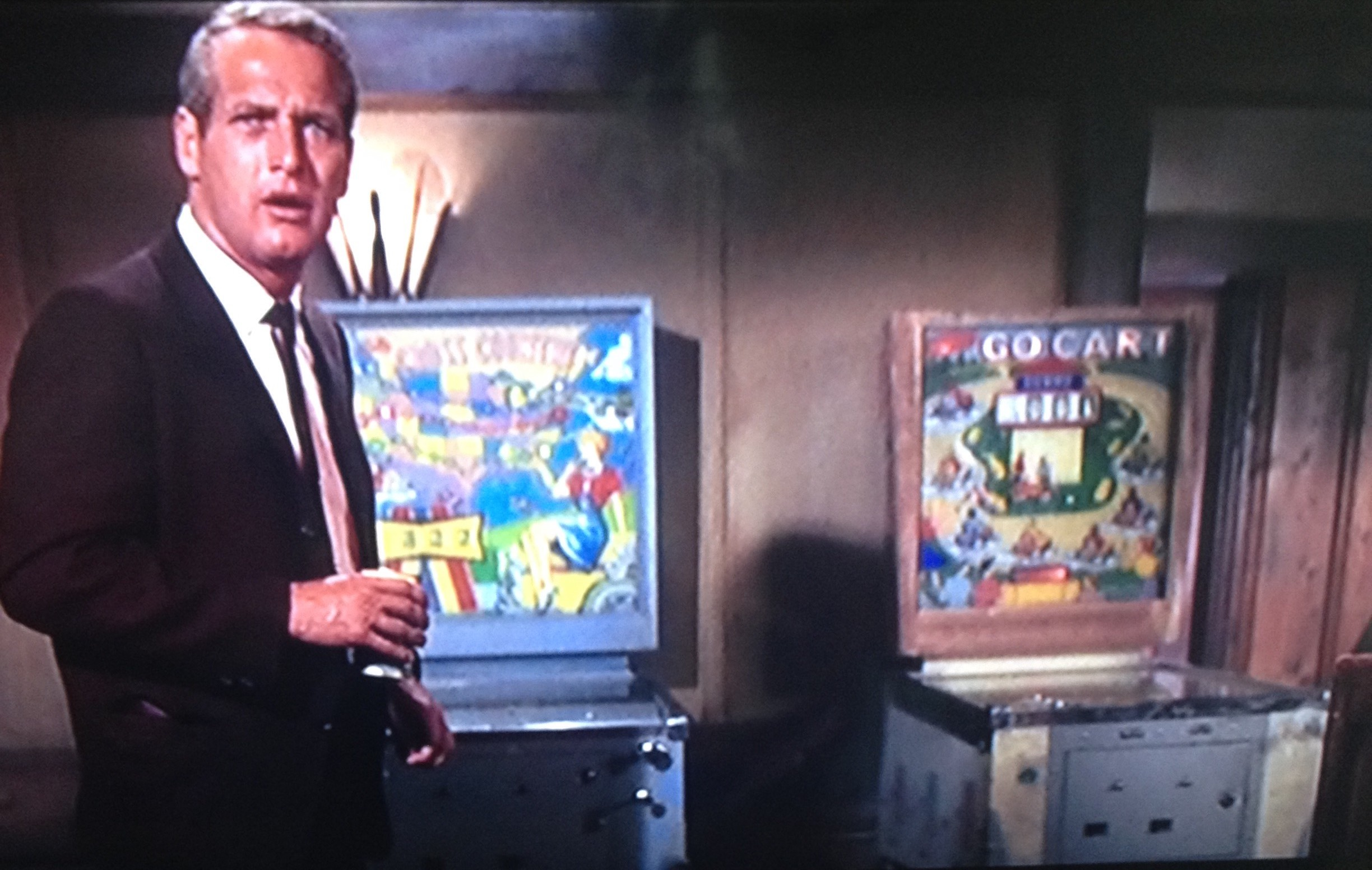Pinball In The Movies Page 2 Short Circuit Slot Machine Williams Wms Machines Reel Gambling Bar Scene 1 Hour 3 Minutes Into Movie Screen Shot